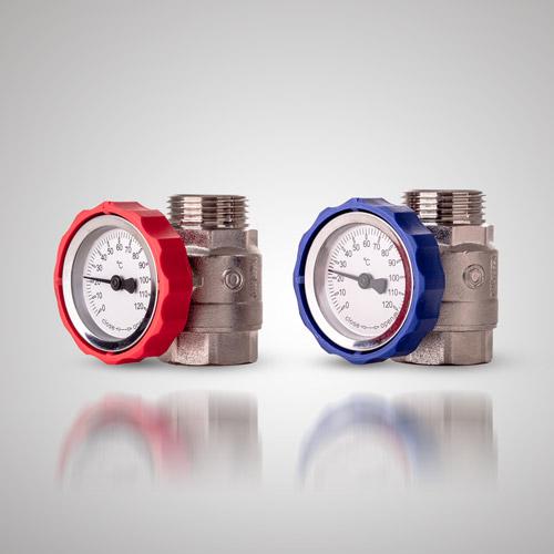 Zawór kulowy G1 (GZ) x G1 (GW) z termometrem